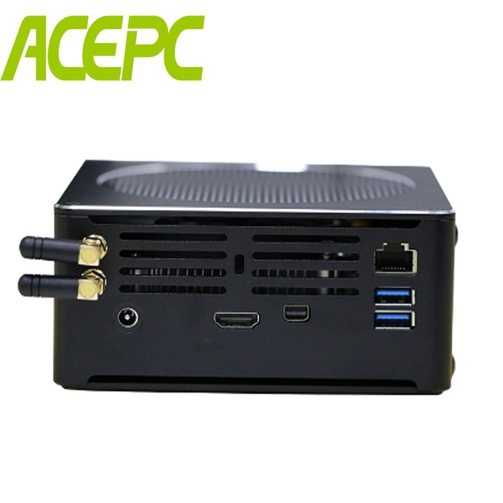 Café Lago 8th Gen Mini PC Intel Core i7 i5 i7 8750 H 8300 H 6785R 8950HK i9 Mini PC DDR4 M.2 SSD Intel UHD Gráficos DP HDMI Wi-fi