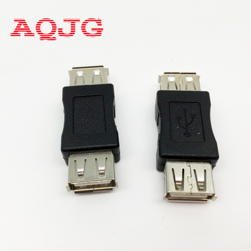 1 pcs USB 2.0 Type A Female to A Female Coupler Adapter Connector F/F Converter Promotion Usb extend Jack AQJG usb 3 0 a female to a female f f converter adapter usb3 0 af to af coupler connector extender converter for laptop pc