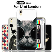 JURCHEN Phone Case For Umi London Cover 5.0 Cartoon Print For umi london Silicone Case TPU Back Cover For Umi London Capa Coque(China)