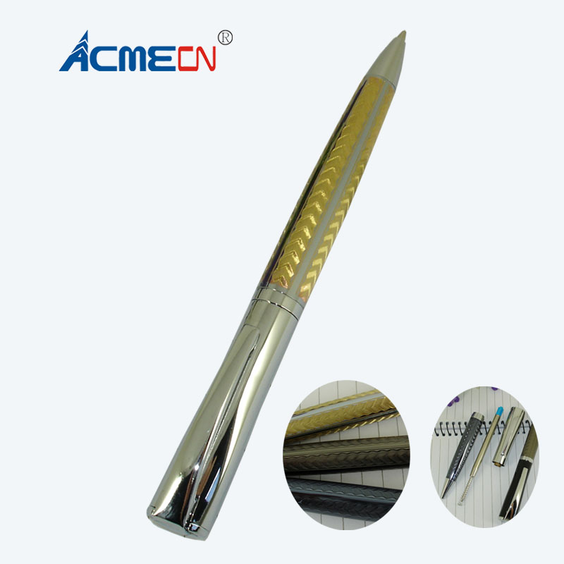 ACME Unique Design Luxury Ballpoint Pen with Creative Pattern Office Stationery Gold Grey and Black Brand Metal Ball Point Pens ekonika en5507 07 grey metal 17l