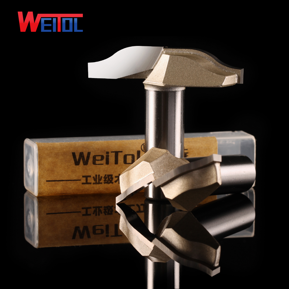 Weitol 1 pcs 12.7 mm wood cutting tools CNC Carbide tip Slotting bits classical ogee bit CNC router bits for cutting wood 1 2 5 8 round nose bit for wood slotting milling cutters woodworking router bits