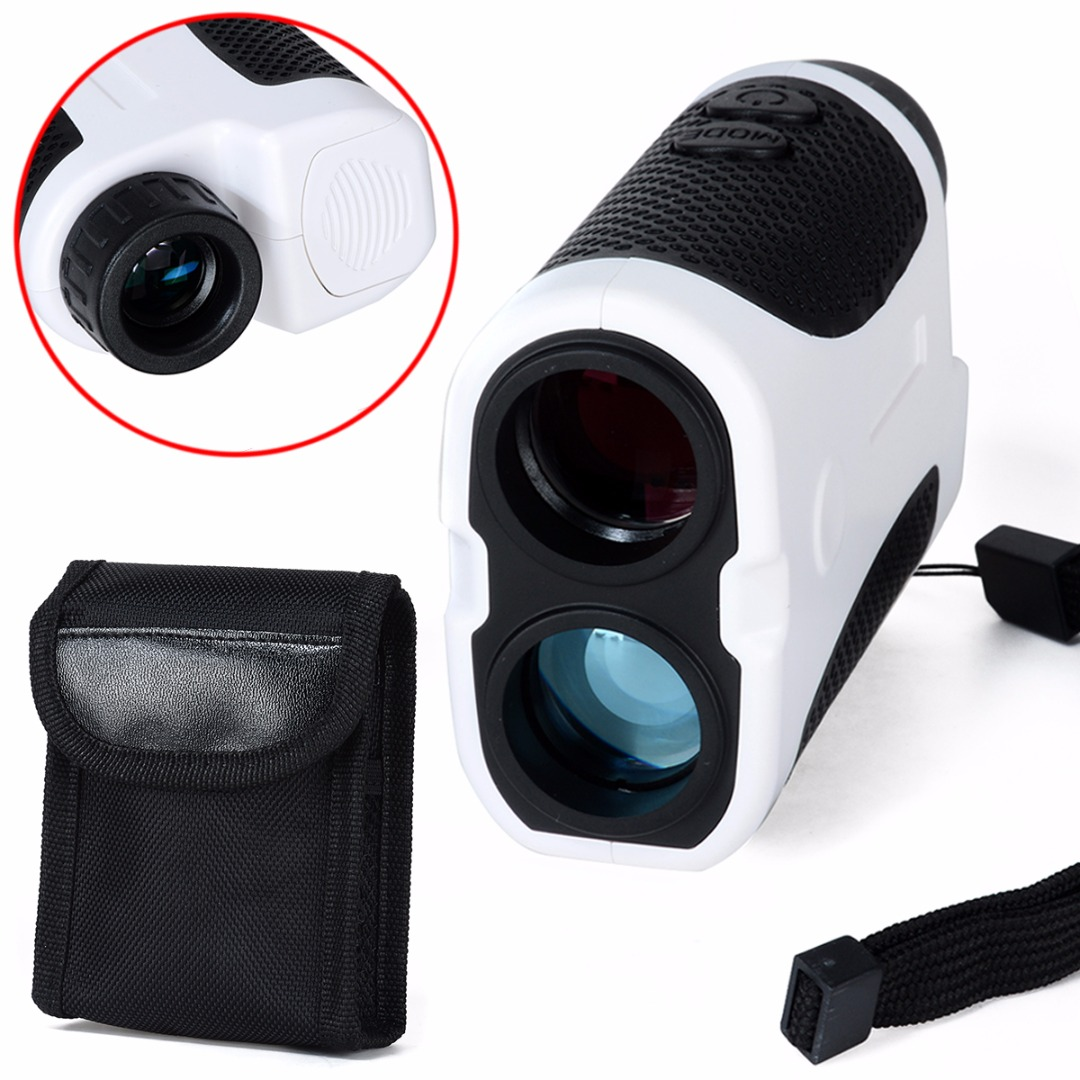 New White Outdoor Golf Telescope Distance Range Finder Club With Case for Golf Hunting Laser Rangefinder simulation mini golf course display toy set with golf club ball flag