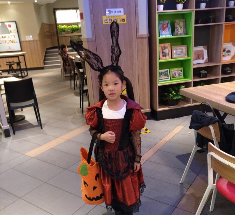 6d63bd7f30c7f Gothique Lolita Fille Cosplay Robe pour Halloween Fête D ...