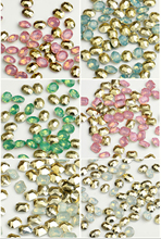 100pcs/Pack 6*8mm, 7*10mm Opal Crystal Nail Art Rhinestones For 3d Charm Resin 32 kinds Stone Rhinestone ,Big Size