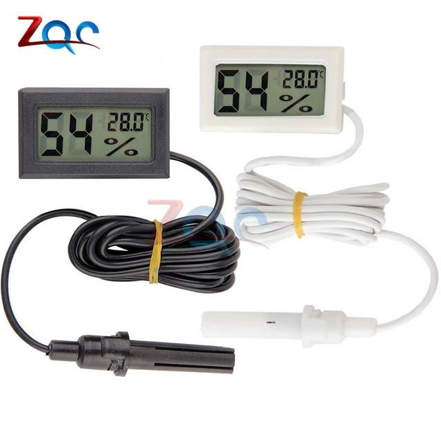 Мини ЖК-дисплей Цифровой термометр гигрометр Температура Крытый удобный Термометры измеритель влажности измерительные приборы кабель