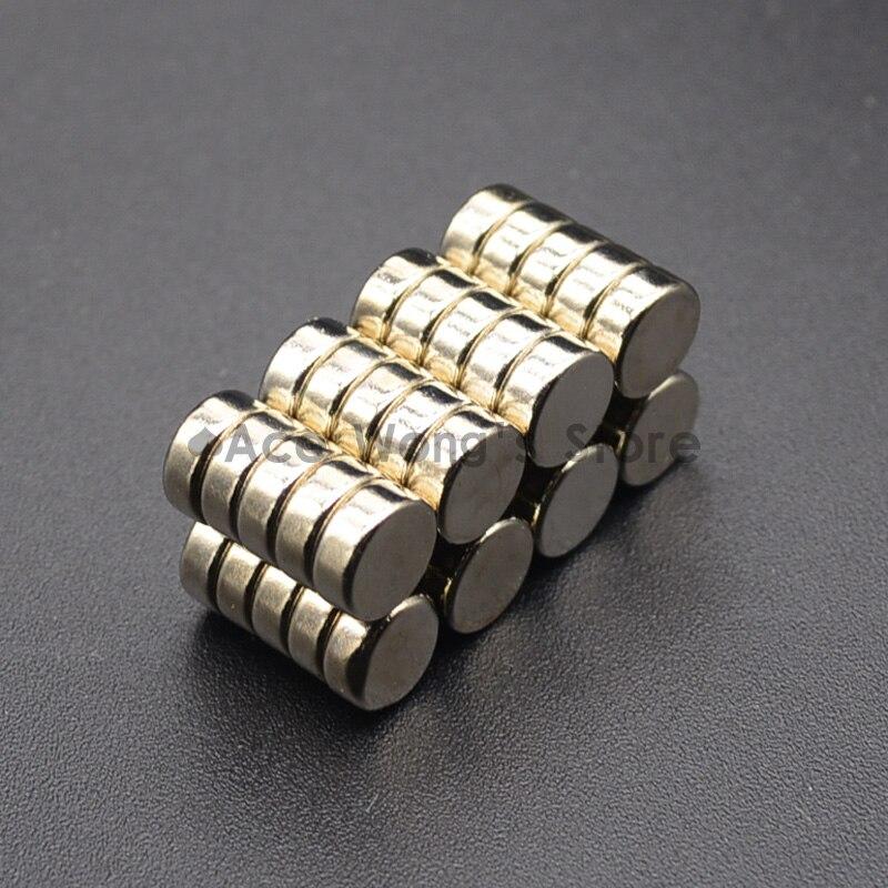 10PCS 8mm X 3mm N50 Thin Neodymium Magnets Rare Earth Craft Reborn Fridge NdFeB Magnetic Materials