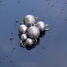 Akcesoria wędkarskie szybkie Wstawianie ołowiu ciężarów okrągłe kulki waga 2 3 5 7 10g tanie tanio LYNN FISHING LURE Texas Rig Lure Accessories Lead Wacky Rig Lead Sinker