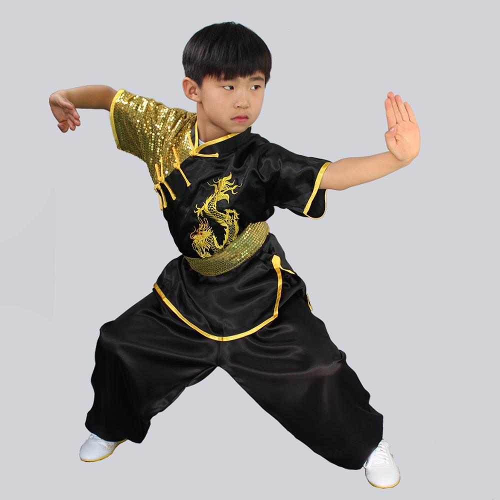 Wushu Stretch Silk Dragon Uniform 4