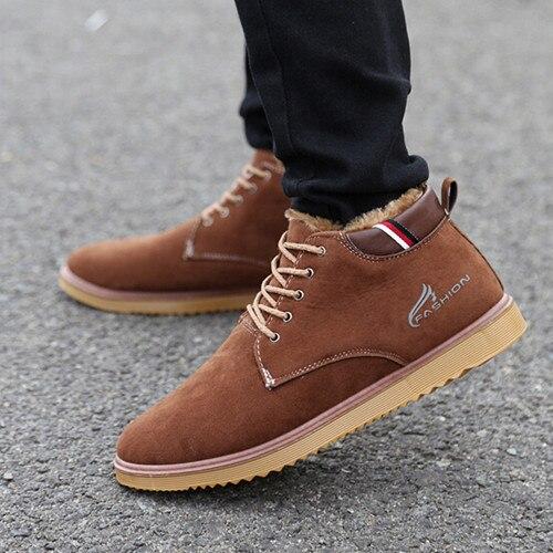 O envio gratuito de 2016 New England Homens inverno sapatos moda Masculina de alta-top sapatos Masculinos Botas de algodão acolchoado sapatos de inverno