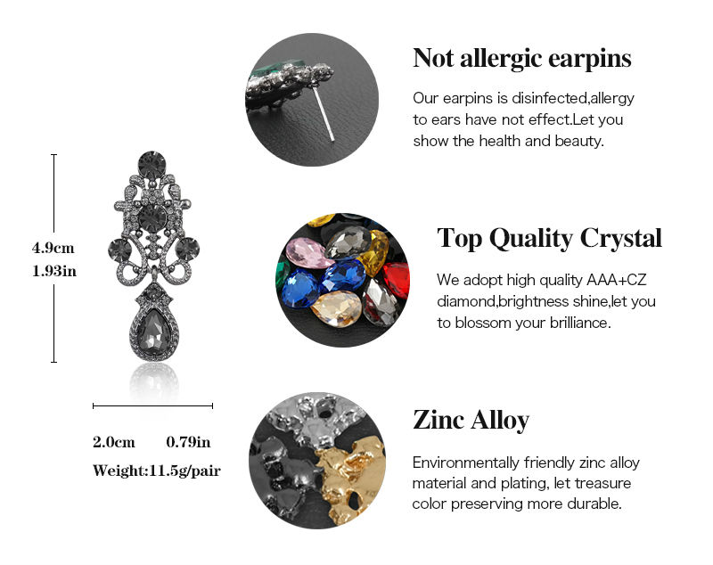 HTB1i6nlKFXXXXcCXVXXq6xXFXXXE Water Drop Earrings Vintage Rhinestone Crystal Earrings for Woman High Quality