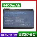 4400 mah batería del ordenador portátil para acer bt.00605.025, BT.00607.008, BT.00607.017, GRAPE32
