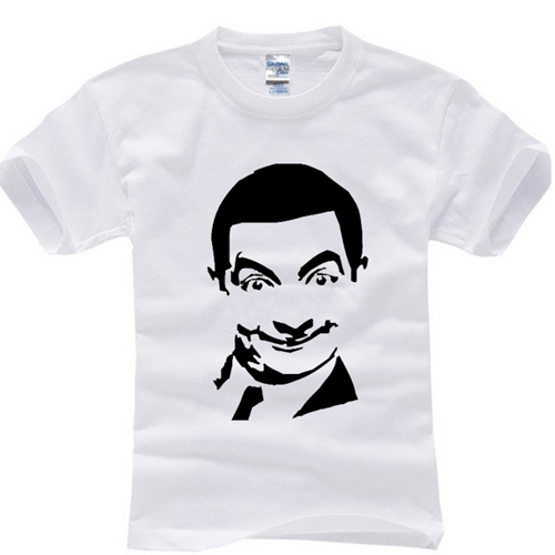 2015 summer famous comedy movie Brand bean 100% Cotton fitness casual man t-shirts t shirt men tees camisas top o-neck short