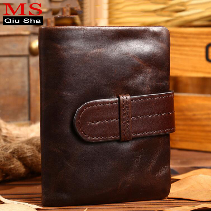 MS.QIUSHA Male Purse Men Wallet Genuine leather Wallet Short Small Clutch Male Coin Purse Credit Card Holder Men Bag Money Perse men wallet fashion leather purse credit card holder dollar wallet male small wallet short money purses male clutch wallets