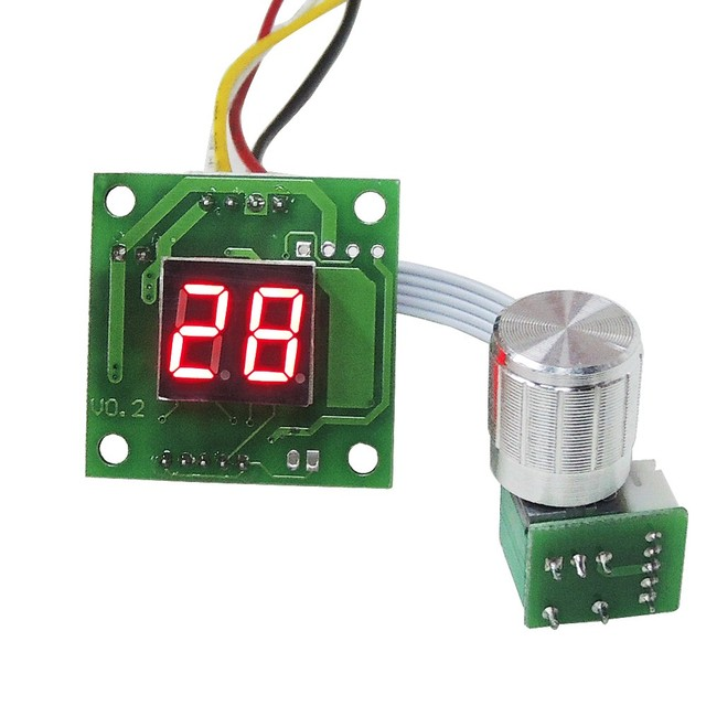 Enjoy DIY! Mini Size DC 6V 28V Motor PWM Speed Controller With ...