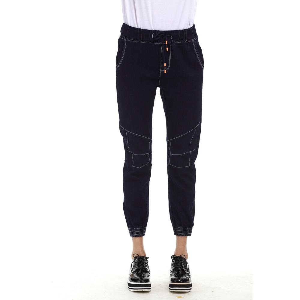 Blue Fashion Ripped Jeans for women Plus Size Boyfriend jeans for Women Pant Capris Denim Elastic cotton Pant Elastic waist