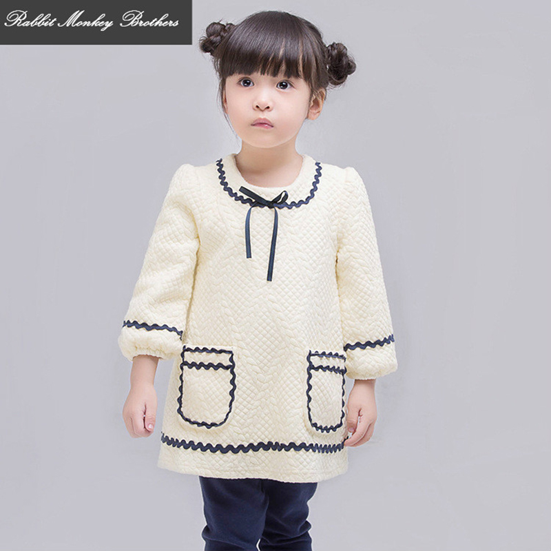 RMBkids Autumn and winter new baby girl jacket Princess style Infants sleeve round neck bow lace