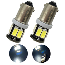 цена на 50X BA9S 5630 10LED 10 SMD LED Light Bulb Clearance Lights 12V DC White Hign Lumen Car Lights Lamp Bulbs 1895 57 T4W 182 1445