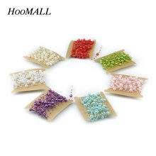 Hoomall 5m Long 8mm+3mm Beads Rope Decoration Wedding Home DIY Hanging Decor New Year Party Supplies Bridal Bouquet Accessories(China)