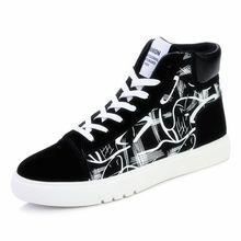 Cute Corgi Dog Cat Fruit Printed Shoes Graffiti High Heel Double-layer Canvas College Personalise Fashion A194112 Men's Vulcanize Shoes