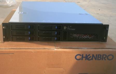 2U 6 disk hot plug server chassis RM21706 2U industrial chassis
