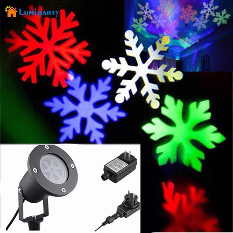 LumiParty Outdoor Snowflake LED Stage Light Garden Moving Snow Laser Projector for Christmas Party Decoration Landscape Lamp newyear waterproof led snowflake laser projector lamps stage light christmas party garden home decoration outdoor