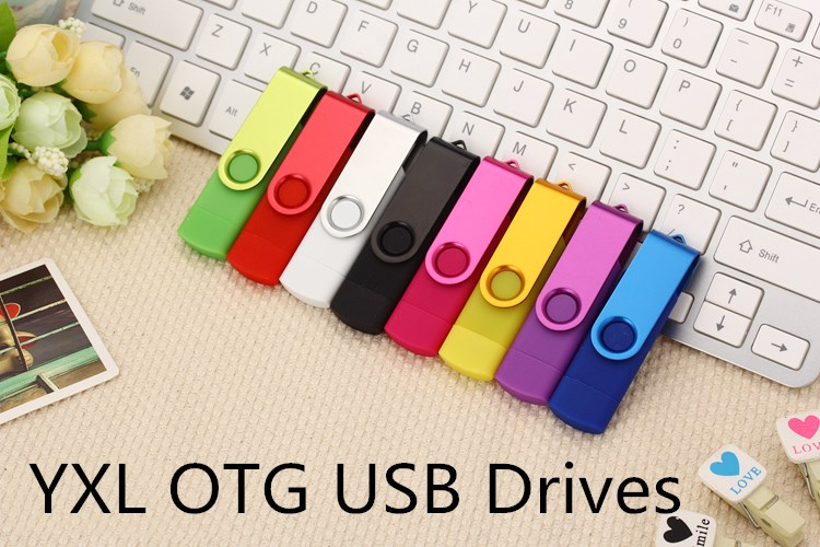 Mix color wholesale USB Flash Drive 16gb pendrive OTG Smart Phone 4gb cle usb 32gb 50PSC/1bag