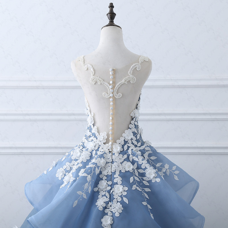 Image 4 - TW0184 Flower Fairy  Beige Appliques  Luxury Wedding Dress With Real Pictures Royal Blue Wedding  Gownsluxury wedding dresseswedding dressluxurious wedding -