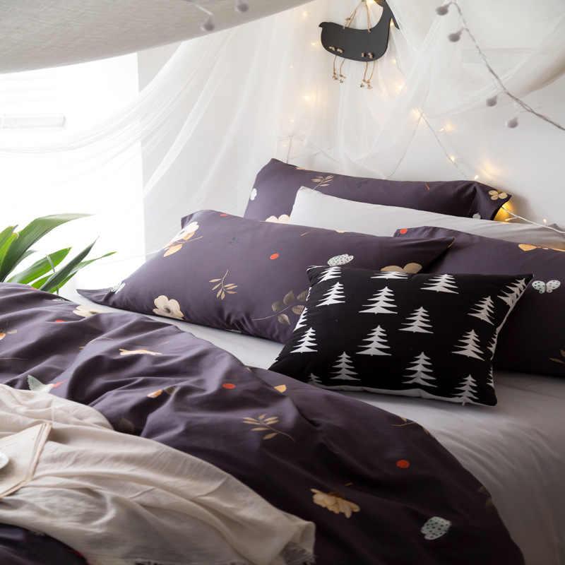 5087 40 S 100% algodão 4 pcs conjuntos capa de Edredão de verão usar sentimento fresco colcha de alta densidade boa qualidade rainha king size