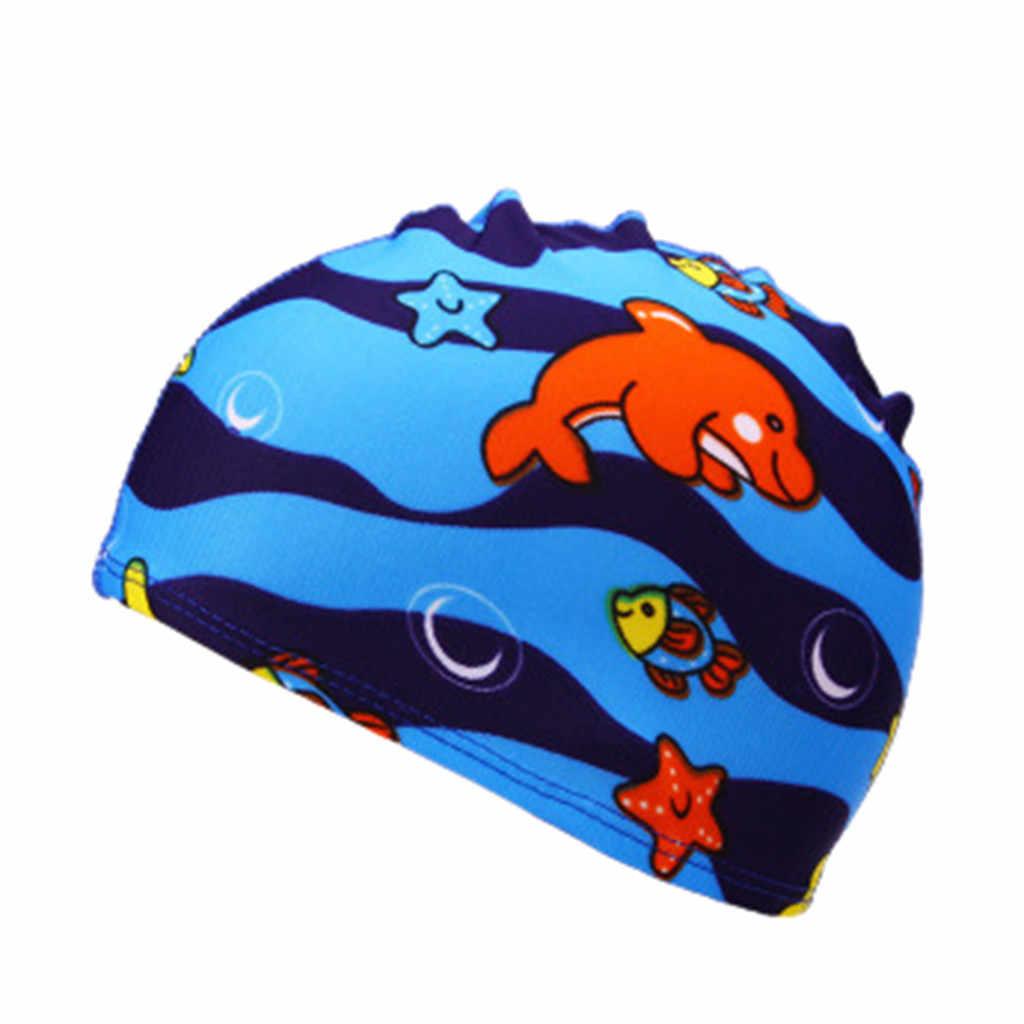 Huang Neeky W#5 2019 NEW HOT Children Kids Boy Girl Cartoon Print  Swim Waterproof Swimming Cap Sport Hat Popular Free Shipping