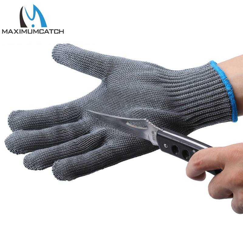 Maximumcatch 2pcs Fishing Gloves Thread Weave Cut Resistant Fillet Knife Glove Protective Anti Slip Hand protect Fishing Gloves