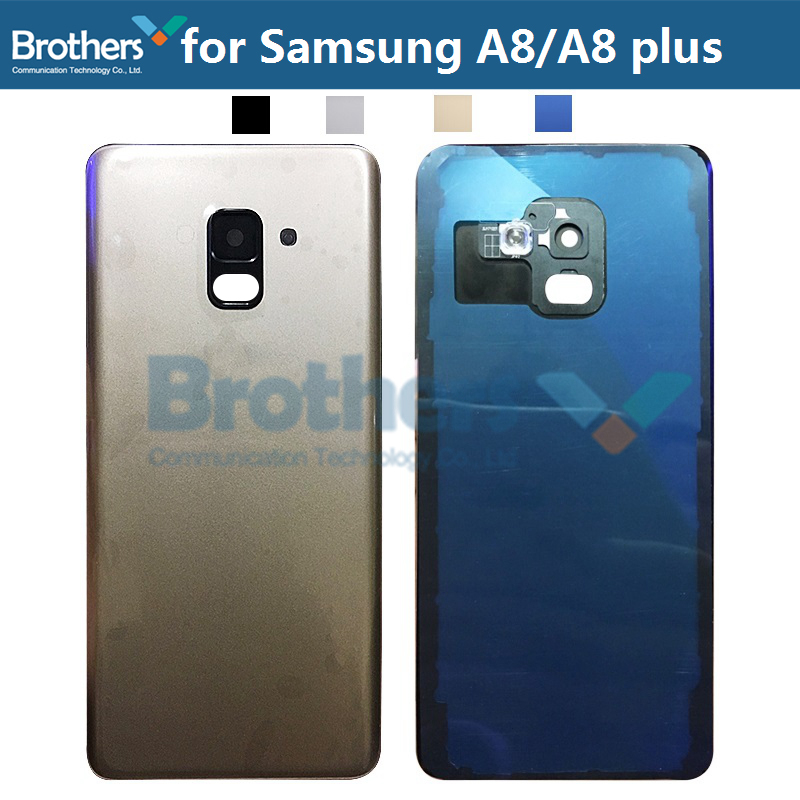 Battery Housing For Samsung Galaxy A8 A530 A8 Plus A730 Battery Door With Camera Lens Glass Back Cover Rear Housing For A8 Plus