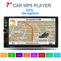 GPS 7 polegadas Touch Screen Suporte chamadas hands-free 2 Dins Car Stereo MP5 Player FM USB SD TF Bluetooth Multimídia