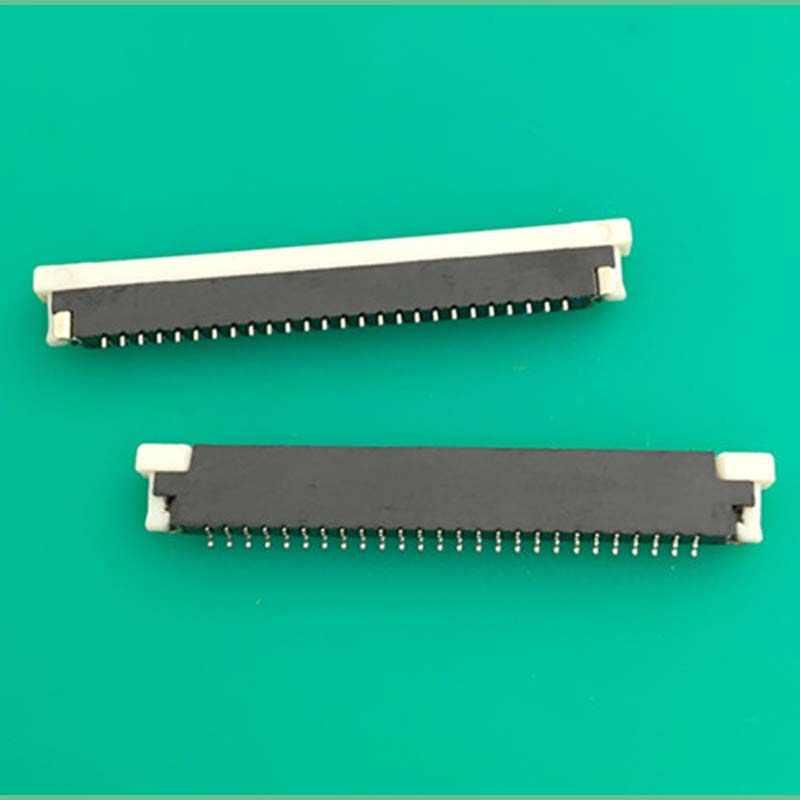 FPCเชื่อมต่อแป้นพิมพ์โน๊ตบุ๊คซ็อกเก็ตสาย0.8สนาม34ขาลิ้นชักประเภทแป้นพิมพ์สายสัญญาณซ็อกเก็ตความหนา2.0มิลลิเมตร