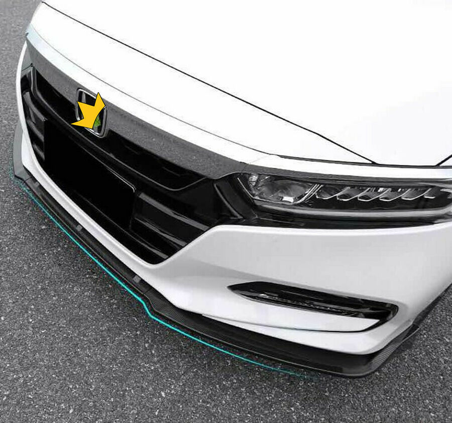 Kit de carrosserie pour pare-chocs avant brillant noir/Fiber de carbone pour Honda Accord 2018 2019Kit de carrosserie pour pare-chocs avant brillant noir/Fiber de carbone pour Honda Accord 2018 2019