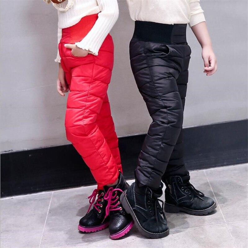 9c0e4666eb2c9 Achat Casual Fille Garçon Hiver Pantalon En Coton Rembourré Épais Pantalons  Chauds Pantalons de Ski Imperméables 10 Ans Élastique Taille Haute Bébé  Enfant ...