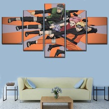 Home Decorations Naruto Shippuden Anime 5 Piece Paintings Canvas Wall Art for Modern Decor Painting On Room Artwork