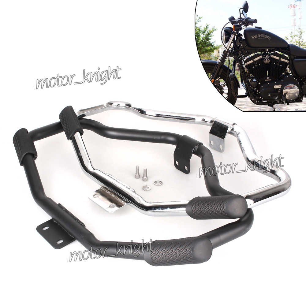 Krator Engine Guard Highway Mustache Crash Bar Compatible with Harley Davidson Sportster 883L XL883L 2006-2009