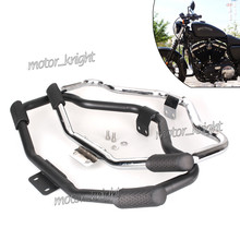 Motorcycle Mustache Highway Engine Guard Crash Bar For Harley HD Sportster Forty Eight XL 1200 883 04-18 ron 883 09-18 48 XL(China)