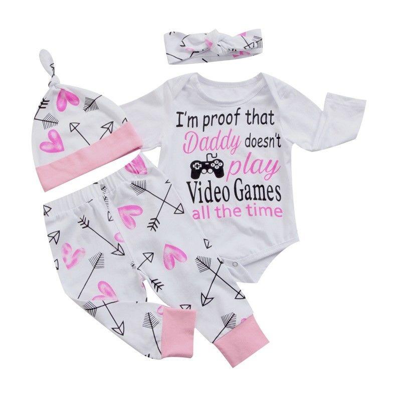 Pudcoco новорожденных Комплект одежды для девочек комбинезон + Брюки осенняя одежда костюм с длинными рукавами комплект одежды 0-24 м