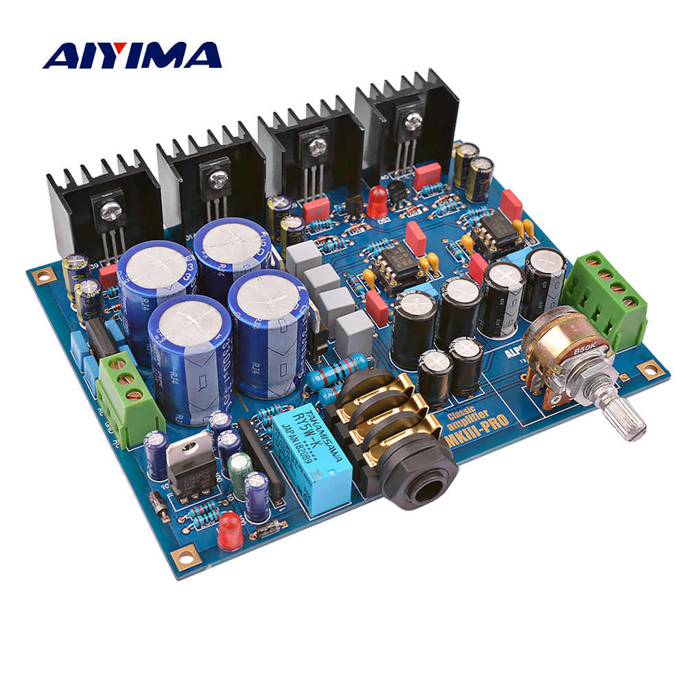 AIYIMA Headphone Amplifier Board base on Beyerdynamic A1 Headphone AMP Amplifiers For Earphone Protect ALPS Potentiometer