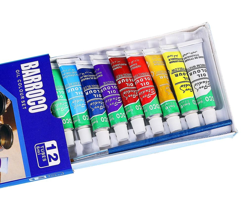 12colors/set Professional Oil paints colors painting drawing pigments art supplies art set oil painting set with1 brush