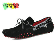 Brand Summer Casual High Quality Men's Suede Leather Slip-on Loafers Driving Shoes Fahion Boat Shoe Mens Handmade Moccasins