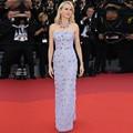 Lavanda Glamorous Pedrería de Cristal Formal Vestido de Festival de Cine de Cannes Alfombra Roja Vestidos de La Celebridad 2017 Robe De Soirée