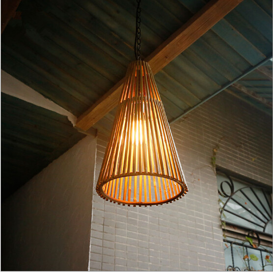Southeast Asia vintage style hand-made bamboo art Pendant Lights Countryside nostalgic lamp for tea room&stairs&pavilion LDK020 southeast asia style cottage romatic bamboo hand made wall lamps rural nostalgic lights for vestibule