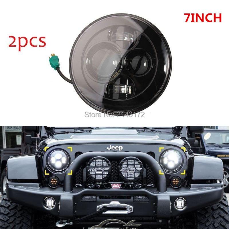 7 40W светодиодные фары для джипов Вранглер JK CJ и Хаммер Н1, Н2 светодиодный проектор вождения лампы Алюминиевый черный корпус