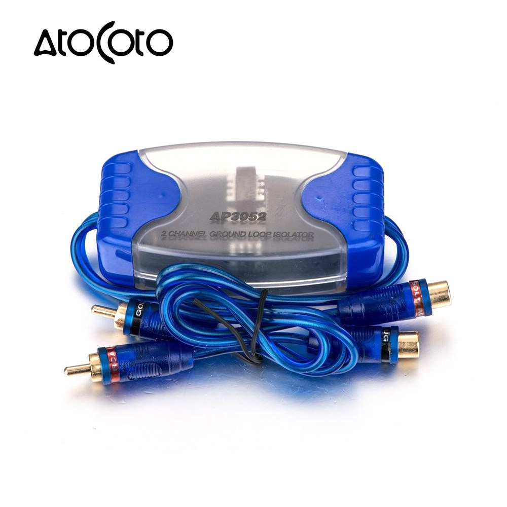 Car Rca Amplifier Ground Loop Isolator Audio Noise Filter Suppressor