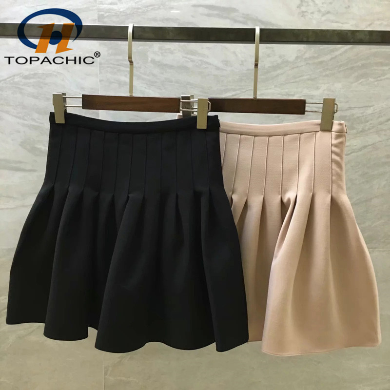 6 22 2019 Summer The high quality fashion High Street female Solid temperament Mini skirts