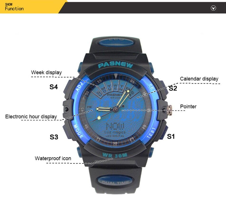 2018 Free Shipping Fashion Men Watch Waterproof Sport Men Wristwatch S Quartz Digital Boy Clock Relogio Masculino (1)