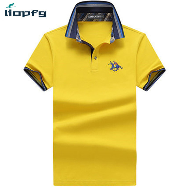 c682d7369112 New Design 2017 Summer Casual Solid Slim Fit Cotton Polos Shirts Men Short  Sleeve Italian Famous