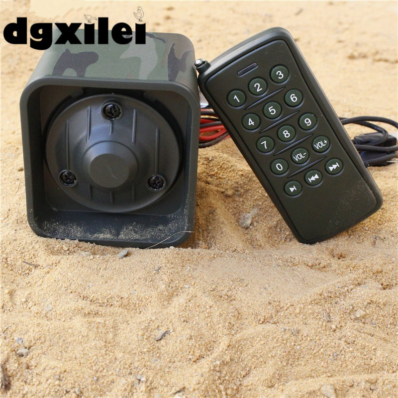Waterproof Anti-dust Arabic 50w Hunting Decoy Bird Caller Sounds Mp3 Hunting Bird Mp3 Player With Remote Control Time On/Off